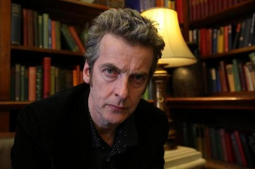 Doctor Who kertas dinding with a bookshop, a library, and a rak buku titled Peter Capaldi