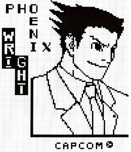 Phoenix Wright in pixel001
