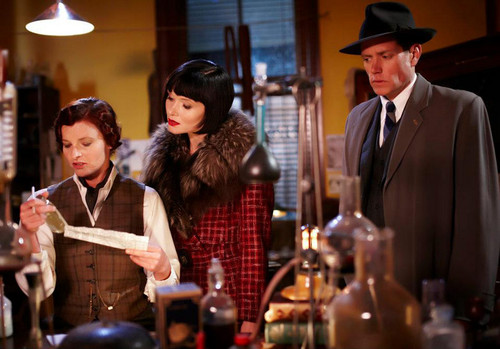 Dr. Mac with Miss Fisher & Detective Inspector Robinson