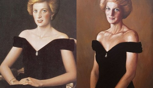 Pictured right is his version of what Diana might look like today