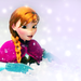 Pretty Anna Falling into Snow ~ ♡ ~
