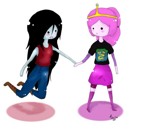 Adventure Time With Finn And Jake Wallpaper Called Princess Bubblegum X Marceline