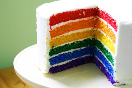 pelangi, rainbow Cakes ♡
