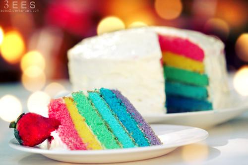 قوس قزح Cakes ♡