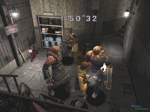 Resident Evil Hintergrund probably containing a warehouse, a jail, and a straße called Resident Evil 3: Nemesis
