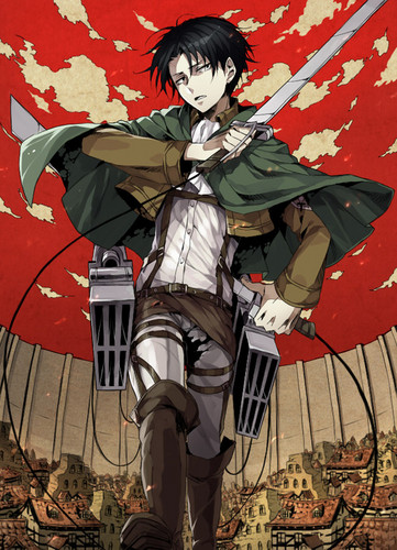 Shingeki no Kyojin (Attack on Titan) Hintergrund containing Anime entitled Rivaille