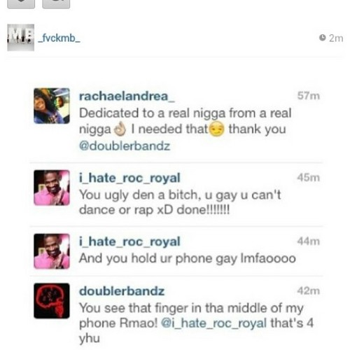 Roc ain't takin shit from nobody lmao #putthathoeincheck