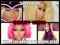 SORRY NICKI - nicki-minaj fan art