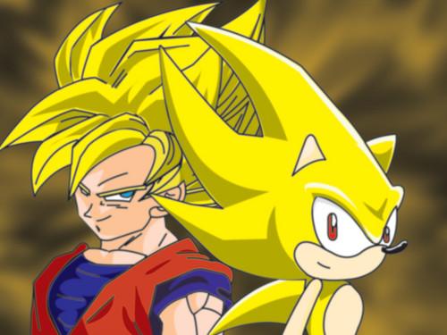 SSJ 孫 悟空 and Super Sonic