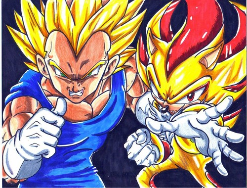 SSJ Vegeta and Super Shadow
