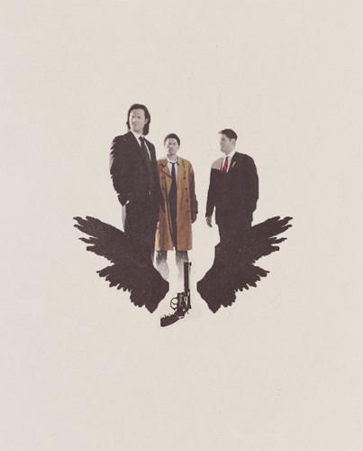 Sam, Dean & Castiel