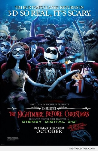 Scary Movie Cover Photo: Nightmare Before Christmas