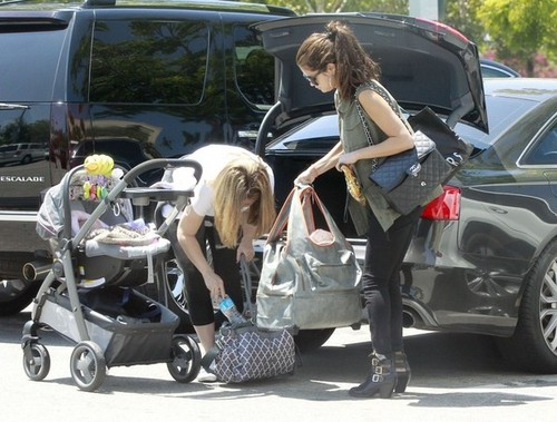 Selena out in Canoga Park