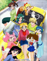 Serena and friends - sailor-mini-moon-rini fan art
