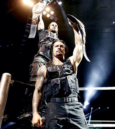 Seth Rollins and Roman Reigns