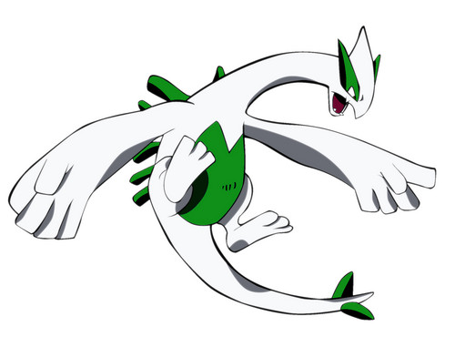 Shiny green Lugia