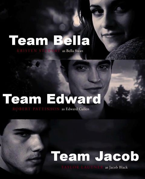 Team Bella/Team Edward/Team Jacob