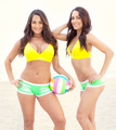 The Bellas hit the beach
