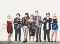 The Big Bang Theory cast kertas dinding