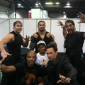 The Shield with Jason David Frank, the original green Power Ranger - the-shield-wwe photo