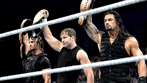 WWE wallpaper probably with parallel bars titled The Shield