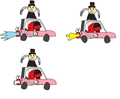 "The animation frames I used to put together ""Baffle RIDIN' ON CARS"" - sonic-fan-characters fan art"