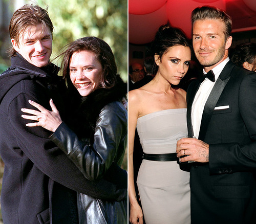 Celebrity Couples wallpaper containing a business suit titled Then and Now