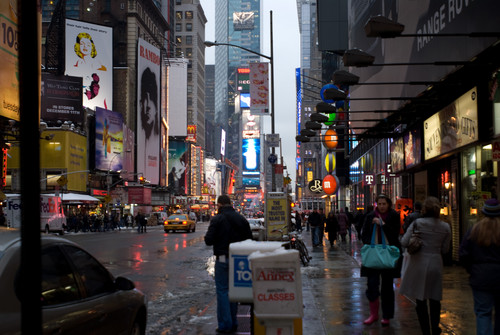 Time Square in Winter