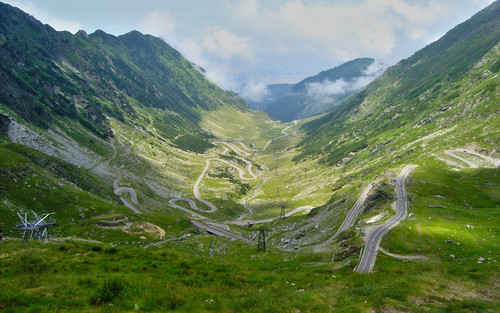 Transfagarasan mountain road Romania