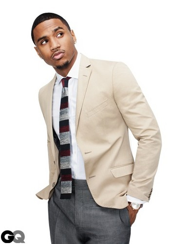 Trey Songz wallpaper with a business suit, a suit, and a three piece suit entitled Trey Songz with class