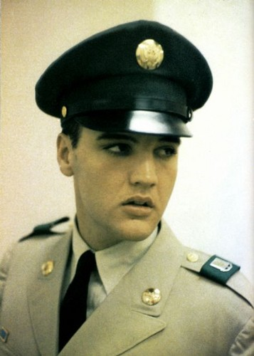 Elvis Presley wallpaper with a green beret, battle dress, and regimentals called US ARMY-ELVIS