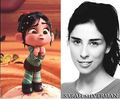 Vanellope and her voice actress Sarah Silverman