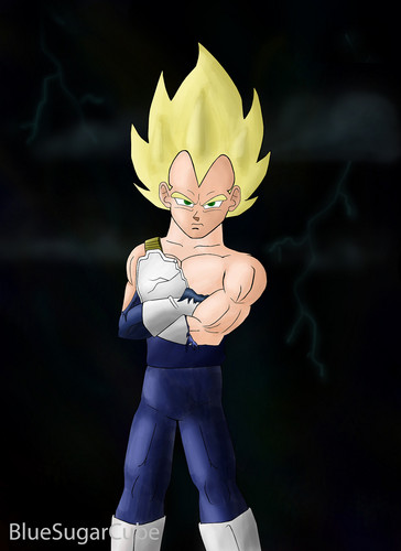 Vegeta as a super saiyan