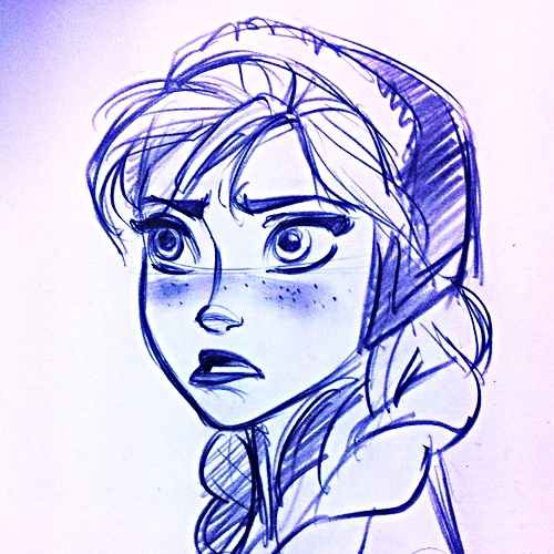 Walt ডিজনি Sketches - Princess Anna