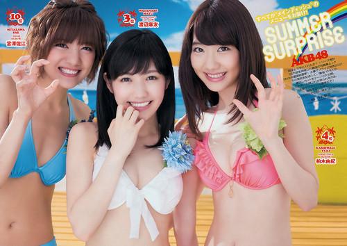 Watanabe Mayu Kashiwagi Yuki Miyazawa Sae - Weekly Playboy No.33+34 2013