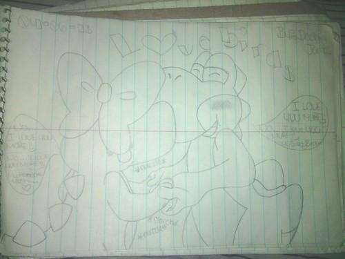 Yoshi and Birdo Dino 愛