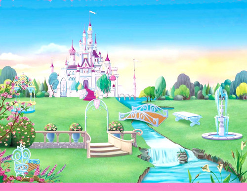 Disney Princess karatasi la kupamba ukuta probably containing a business district and a kremlin called ngome