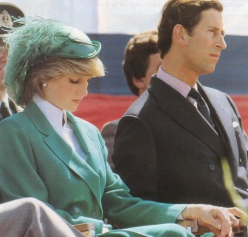 Ratu Elizabeth II kertas dinding with a business suit called charles and diana