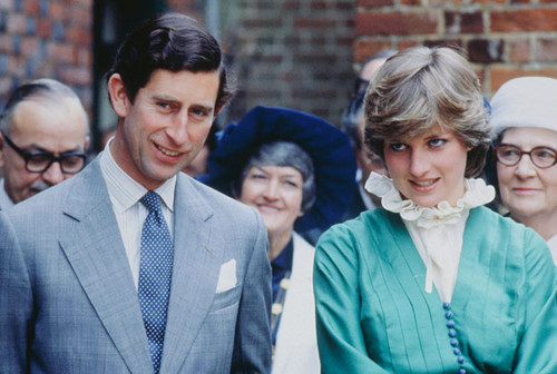 Princess Diana پیپر وال containing a business suit entitled diana and charles