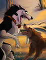 dog fight - balto photo