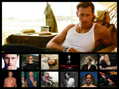 Alexander Skarsgård wallpaper possibly with a sign titled eric for jenn