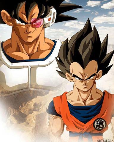 Dragon Ball Z wallpaper possibly containing Anime entitled Goku vs vegeta