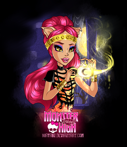 Monster High achtergrond containing anime called howleen 13 wishes