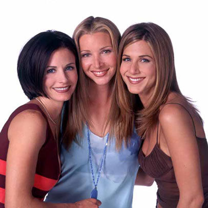 jennifer, courtney, and lisa on Friends