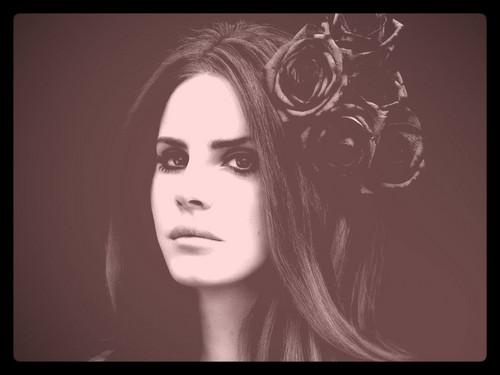Lana Del Rey karatasi la kupamba ukuta called lana