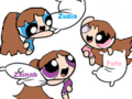 me and my BFF's having a pillow fight - powerpuff-girls-and-rowdyruff-boys fan art