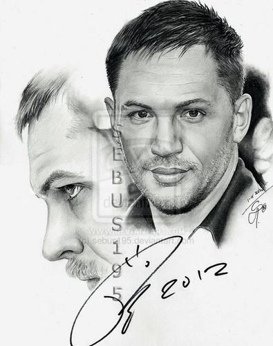 portrait with Tom's autograph