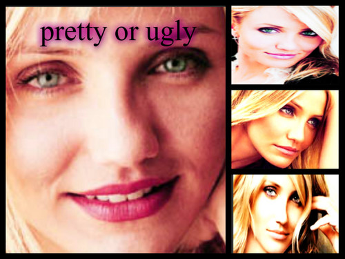 cameron diaz wallpaper possibly with a portrait called pretyy atau ugly