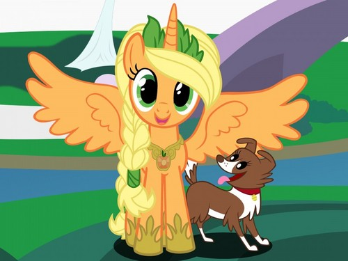 My Little pony Friendship is Magic achtergrond with anime called princess appeldrank, applejack