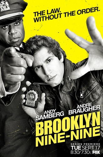Brooklyn Nine-Nine karatasi la kupamba ukuta with anime entitled promotional poster